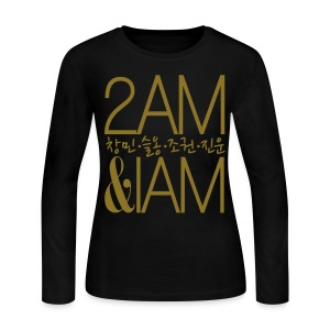 [2AM] IAm 2AM (Metallic Gold) - Women's Long Sleeve Jersey T-Shirt