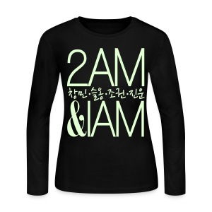[2AM] IAm 2AM (Glow in the Dark) - Women's Long Sleeve Jersey T-Shirt