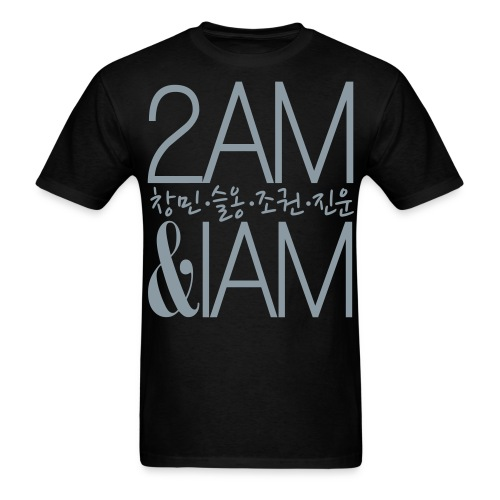 [2AM] IAm 2AM (Metallic Silver) - Men's T-Shirt