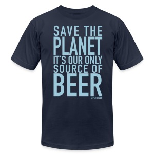 Save the planet - Men's T-Shirt by American Apparel