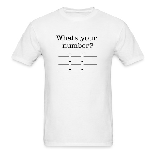 What's your number - Men's T-Shirt
