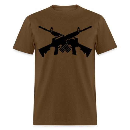 Crossed M16s - Men's T-Shirt