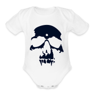 Baby Bodysuits ~ Baby Short Sleeve One Piece ~ skull toddler onesee
