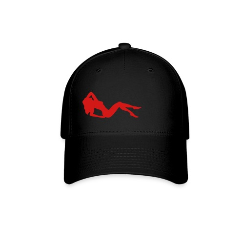 Black w/red lady - Baseball Cap