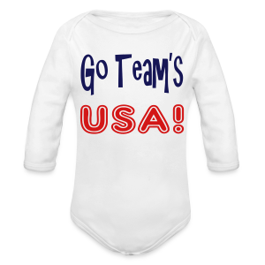 GO TEAMS USA - Long Sleeve Baby Bodysuit