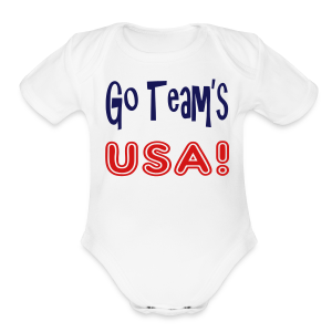 GO TEAMS USA - Short Sleeve Baby Bodysuit