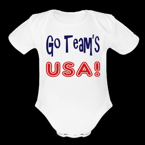 GO TEAMS USA - Organic Short Sleeve Baby Bodysuit