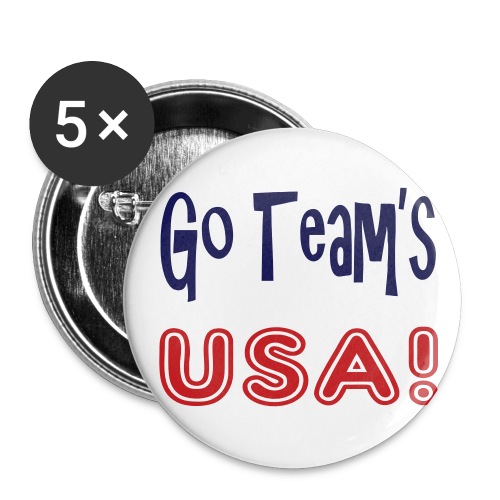 Go teams USA - Large Buttons