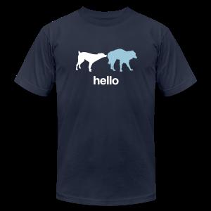 Hello Dogs Shirt - Men's Fine Jersey T-Shirt