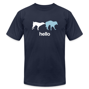 Hello Dogs Shirt - Men's T-Shirt by American Apparel
