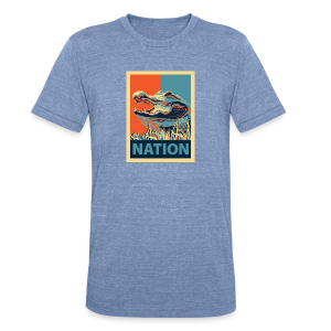 Gator Nation Triblend Tee - Unisex Tri-Blend T-Shirt by American Apparel