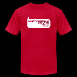 Merry Christmas. Kiss My Ass. Christmas Vacation Tee - Men's Fine Jersey T-Shirt