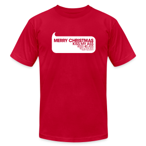 Merry Christmas. Kiss My Ass. Christmas Vacation Tee - Men's T-Shirt by American Apparel