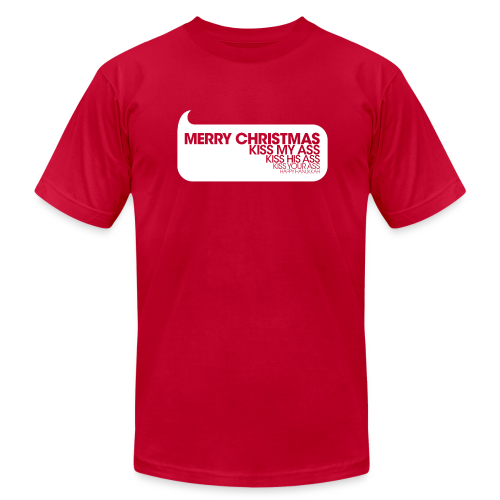 Merry Christmas. Kiss My Ass. Christmas Vacation Tee - Men's Fine Jersey T-Shirt