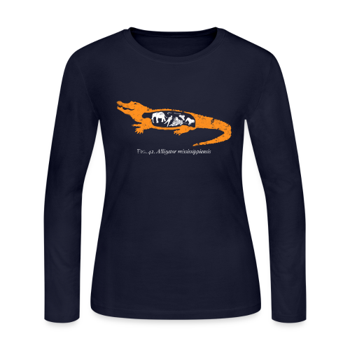 UF Gator Anatomy Long Sleeve Tee - Women's Long Sleeve Jersey T-Shirt