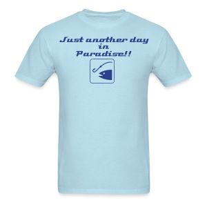 Paradise fishing - Men's T-Shirt