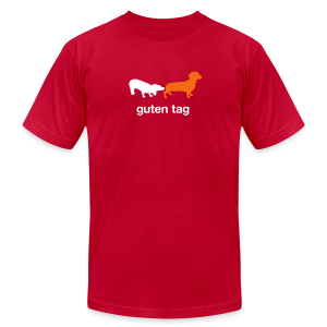 Guten Tag Dachshund Weiner Tee - Men's T-Shirt by American Apparel