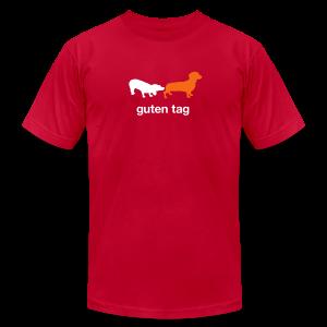 Guten Tag Dachshund Weiner Tee - Men's Fine Jersey T-Shirt