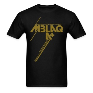 [MBLAQ] Diagonals (Metallic Gold) - Men's T-Shirt