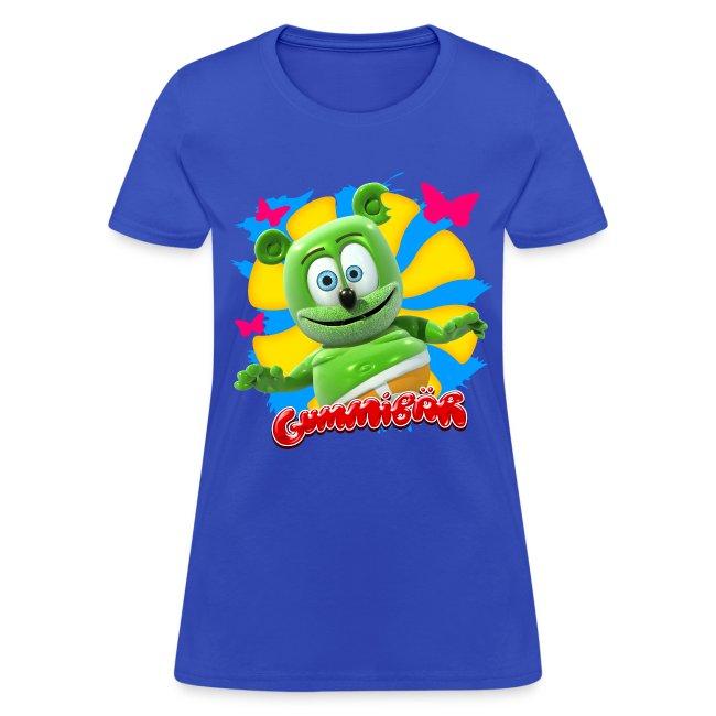 Gummibär (The Gummy Bear) Butterflies Ladies T-Shirt