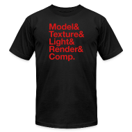 T-Shirts ~ Men's T-Shirt by American Apparel ~ Model&Texture&Light&Render&Comp.