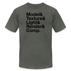 Model&Texture&Light&Render&Comp. - Men's T-Shirt by American Apparel