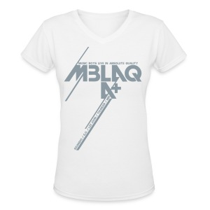 [MBLAQ] Diagonals (metallic silver) - Women's V-Neck T-Shirt