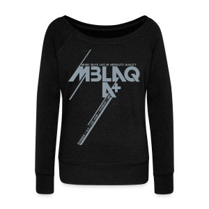 [MBLAQ] Diagonals (Metallic Silver) - Women's Wideneck Sweatshirt