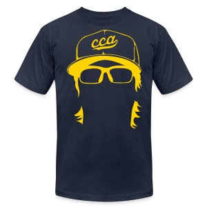 The Setup Man Tee - Gold on Navy - Men's T-Shirt by American Apparel