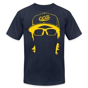 The Setup Man Tee - Gold on Navy - Men's Fine Jersey T-Shirt