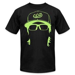 The Setup Man Tee - Neon Green on Black - Men's T-Shirt by American Apparel