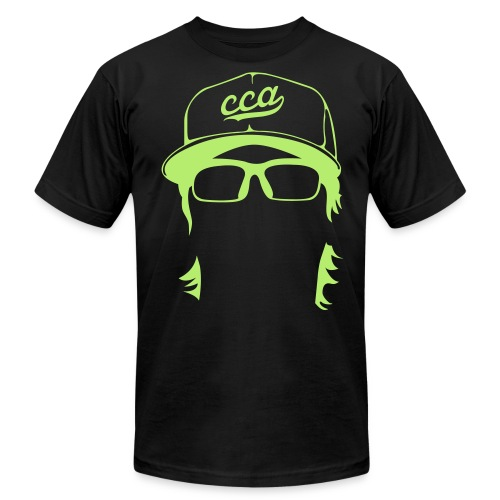 The Setup Man Tee - Neon Green on Black - Men's Fine Jersey T-Shirt
