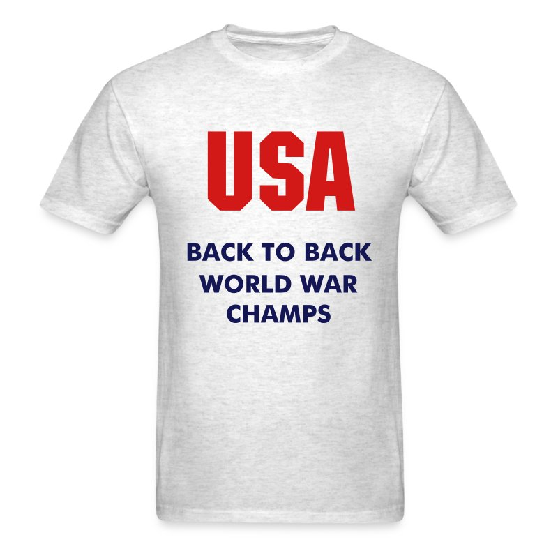 USA Back to Back World War Champs - Men's T-Shirt
