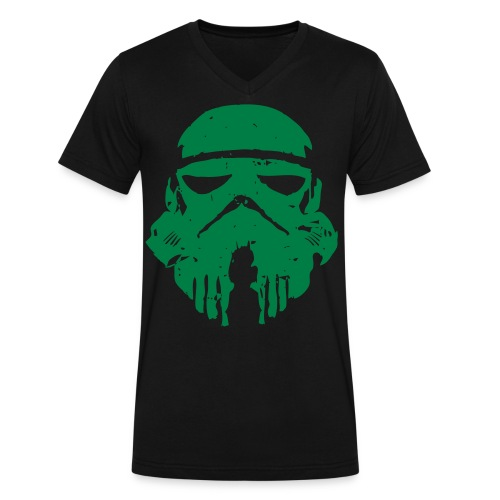 Storm Trooper Helmet V-Neck - Men's V-Neck T-Shirt by Canvas