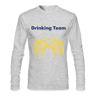 Long Sleeve Shirts ~ Men's Long Sleeve T-Shirt by American Apparel ~ Men's Long Sleeve Drinking Buddies 46 & 47