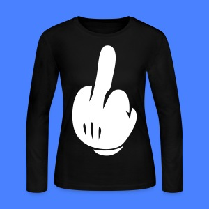 Middle Finger Long Sleeve Shirts - stayflyclothing.com - Women's Long Sleeve Jersey T-Shirt