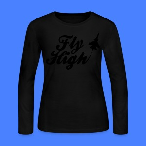 Fly HIgh Long Sleeve Shirts - stayflyclothing.com - Women's Long Sleeve Jersey T-Shirt
