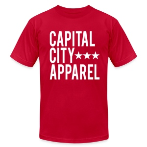Stars Tee - White on Red - Men's T-Shirt by American Apparel