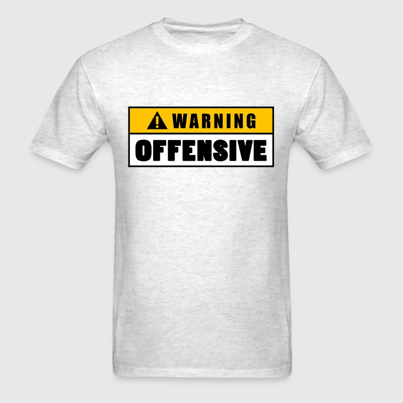 Warning Offensive Lockout - Men's T-Shirt