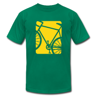 T-Shirts ~ Men's T-Shirt by American Apparel ~ Spokes and Ink Bicycle Design