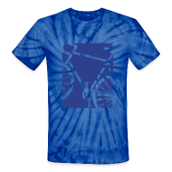 T-Shirts ~ Unisex Tie Dye T-Shirt ~ Spokes and Ink Bicycle Design