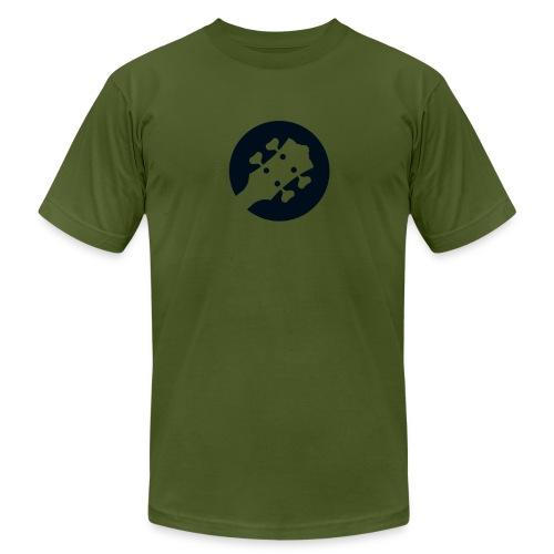Bass Guitar Headstock Logo - Men's Fine Jersey T-Shirt