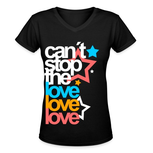 [EH] Love Love Love - Women's V-Neck T-Shirt