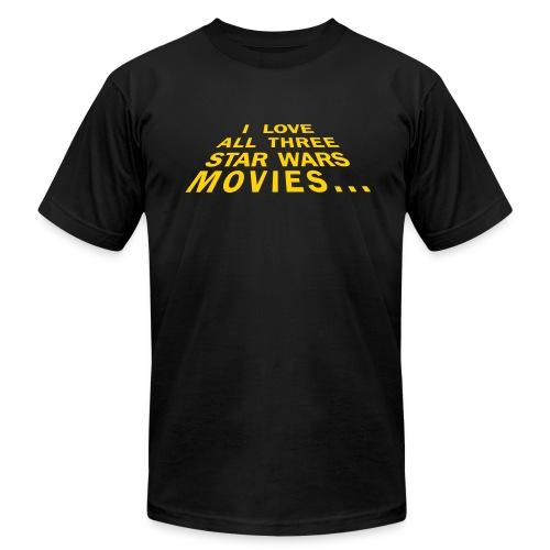I Love All Three Star Wars Movies - Men's Fine Jersey T-Shirt