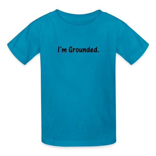 I'm Grounded. Black on Orange Kids T-Shirt - Kids' T-Shirt