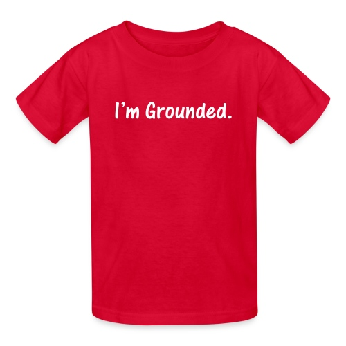 I'm Grounded. White on Red Kids T-Shirt - Kids' T-Shirt