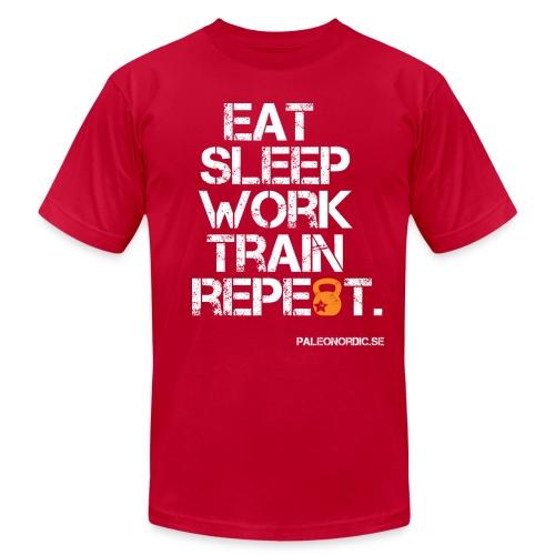 EAT, SLEEP, WORK, TRAIN, REPEAT - Men's Fine Jersey T-Shirt