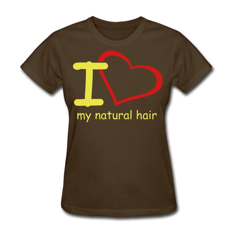 I love my natural hair - Women's T-Shirt
