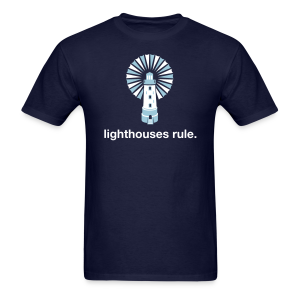 Lighthouses Rule. - Men's T-Shirt