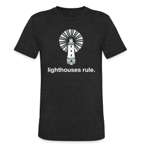 Lighthouses Rule Triblend Tee - Unisex Tri-Blend T-Shirt by American Apparel